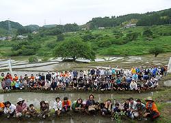現在は地域の方の他、棚田オーナー、静岡大学、企業の皆さんにより棚田が保全されています