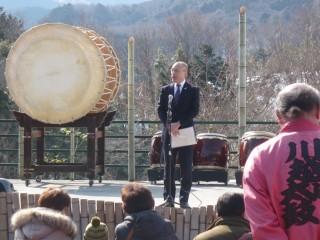 大石 伊豆市副市長にお祝いのお言葉を頂きました。