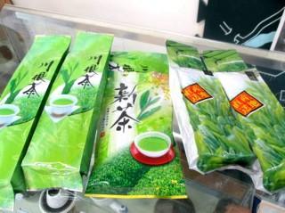 販売されている笹間産のお茶