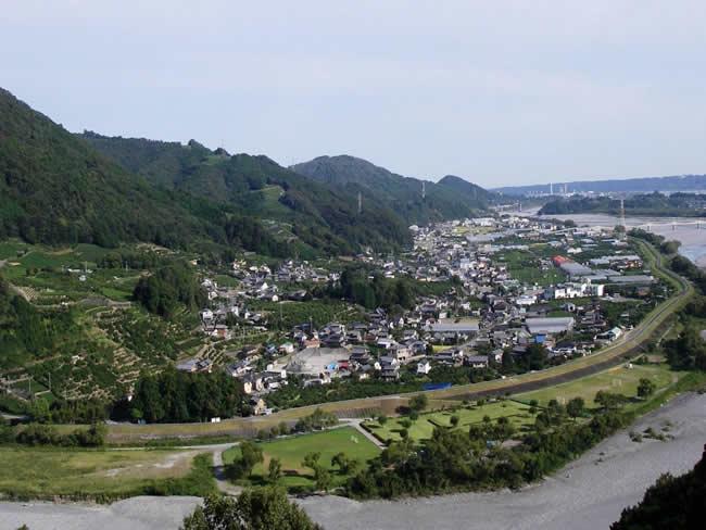神座鵜網と大井川