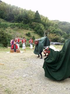 伝統文化の一つ 大賀茂山神社神楽の舞