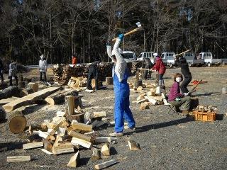 薪割り体験など豊富な資源を利用した農林業体験