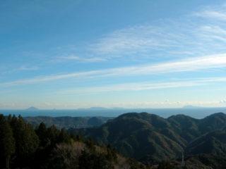 太平洋、伊豆七島までを望む眺望