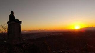 粟ヶ岳山頂の日の出の会と阿波々神社初詣