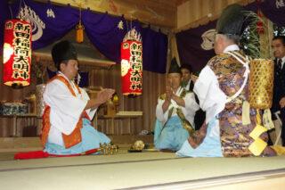 梅ヶ島新田稲荷神社神楽