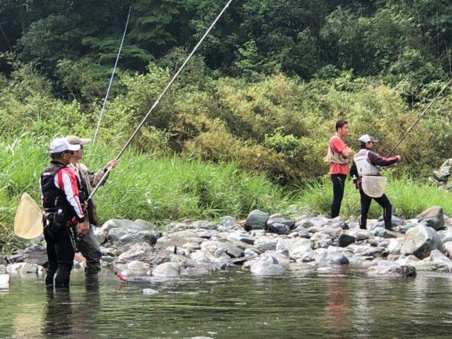 鮎の友釣り体験