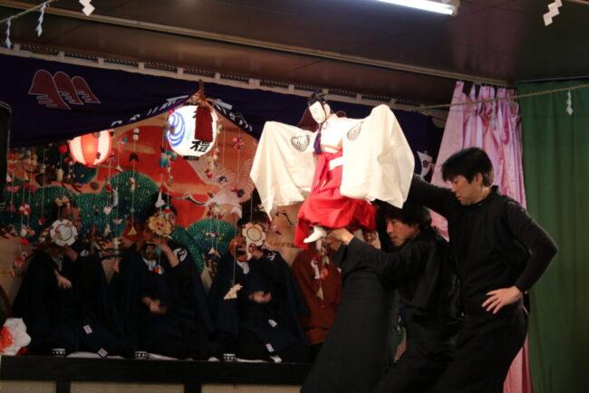 牛越神社の人形三番叟